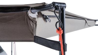 Detail Batwing Markise
