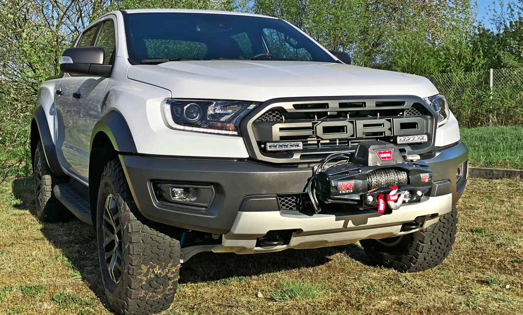 Ford Ranger Raptor mit abnehmbarer Seilwinde