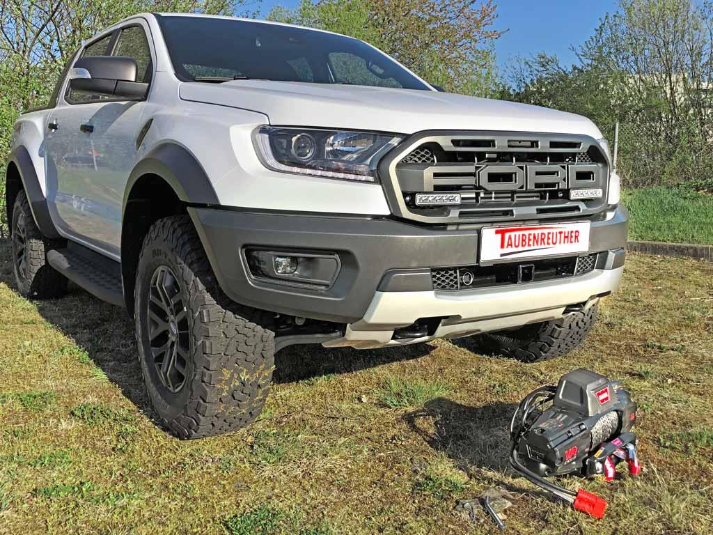 Ford Ranger Raptor mit abgenommener Seilwinde