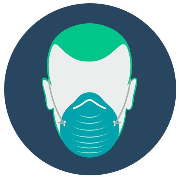 Piktogramm CoV Maske